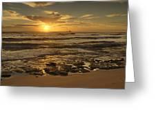 Fort Haze Beach Greeting Card