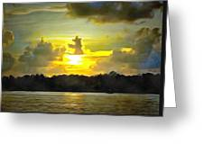 Fort Island Trail Sunset Greeting Card