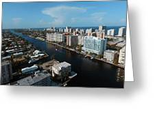 Fort Lauderdale Aerial Photography Greeting Card