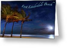 Fort Lauderdale Beach Greeting Greeting Card