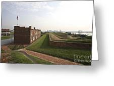 Fort Mchenry Earthworks And Barracks In Baltimore Maryland Greeting Card