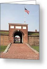 Fort Mchenry Gate In Baltimore Maryland Greeting Card