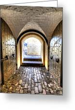 Fort Moultrie Bunker Doors Greeting Card