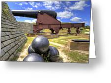Fort Moultrie Cannon Balls Greeting Card