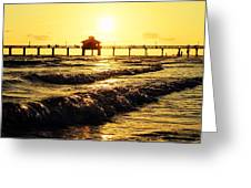 Fort Myers Pier Greeting Card
