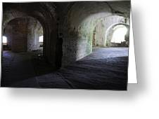 Fort Pickens Corridor 2 Greeting Card