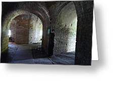Fort Pickens Corridors Greeting Card