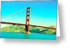 Fort Point Golden Gate Bridge Greeting Card