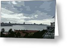 Fort River City Art Greeting Card