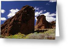 Fort Rock Twin Towers- H Greeting Card