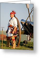 Fort Stanwix Warrior Greeting Card