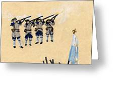 Fort Toulouse Soldiers Firing Greeting Card