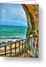 Fort Window View Greeting Card