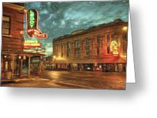 Fort Worth Impressions Main And Exchange Greeting Card