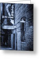 Fort Worth Impressions Scat Lounge Bw Greeting Card