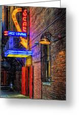 Fort Worth Impressions Scat Lounge Greeting Card