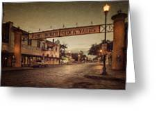 Fort Worth Impressions Stockyards Greeting Card