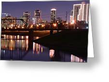 Fort Worth Panorama Greeting Card