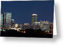 Fort Worth Skyline 051918 Greeting Card