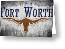 Fort Worth Texas Flag Greeting Card