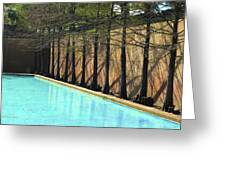 Fort Worth Water Gardens - Quiet Pool Greeting Card