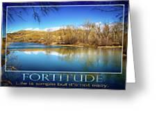 Fortitude Boise Motivational Artwork By Omashte Greeting Card