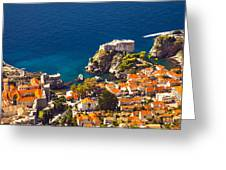 Fortress Of Dubrovnik From Above Greeting Card