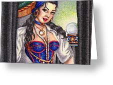 Fortune Teller Greeting Card by Scarlett Royal
