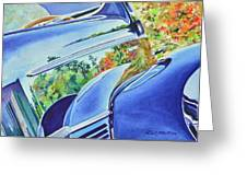 Forty Ford In Fall Greeting Card