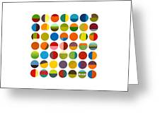 Forty Nine Circles Greeting Card