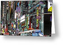 Forty Second And Eighth Ave N Y C Greeting Card