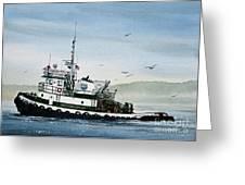 Foss Tugboat Martha Foss Greeting Card by James Williamson