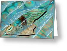 Fossil On The Shore Greeting Card