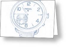 Fossil Q 5 Greeting Card