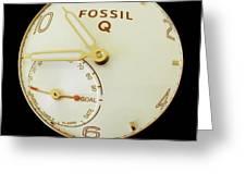 Fossil Q 7 Greeting Card