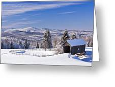 Foster Bridge Winter Panorama Greeting Card