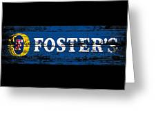 Fosters Beer Sign 3a Greeting Card