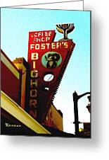 Foster's Bighorn Cafe Greeting Card