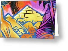 Found Graffiti 28 Cat Greeting Card by Jera Sky