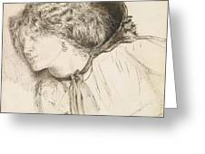 Found - Study For The Head Of The Girl Greeting Card
