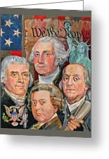 Founding Fathers Of America Greeting Card