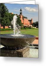 Fountain And Union Greeting Card by Meandering Photography