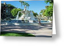 Fountain At Rio Vista Greeting Card