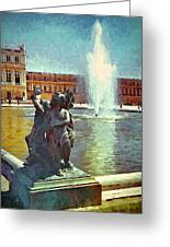 Fountain At Versailles Greeting Card