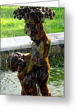 Fountain Cherubs Greeting Card