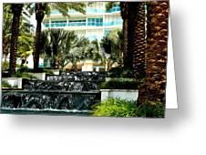 Fountain Entrance Greeting Card