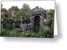 Fountain Garden Greeting Card