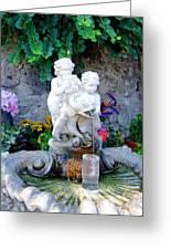 Fountain In Capri Italy Greeting Card