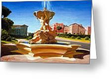 Fountain In Piazza Bocca Della Verita Greeting Card