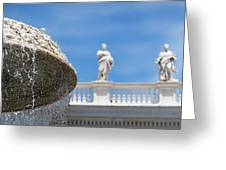 Fountain In The Piazza Greeting Card